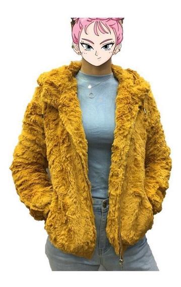 Blusa Casaco Feminino Pelo Com Couro Moda Frio