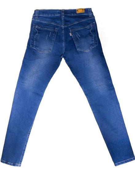 Pantalones Jeans Strech Caballeros Bota Tubo Skinny Super Sk