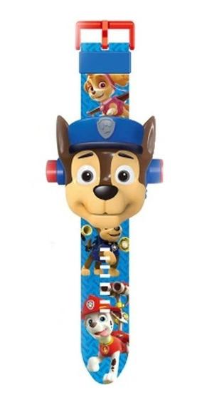 Relógio Infantil Projetor Patrulha Canina Chase Digital