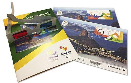 Brasil 2016. Kit Con 2 Hojas Bloque 3d Juegos Olímpicos