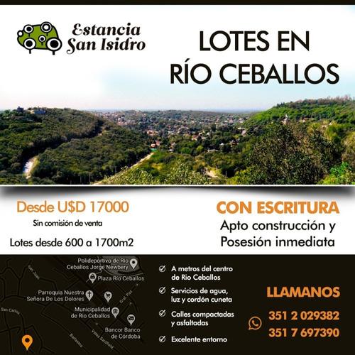Lotes Con Escritura En Rí0 Ceballos - Estancia San Isidro