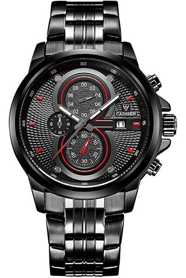 Relógio Cadisen - 46mm - Quartzo - Vidro Hardlex