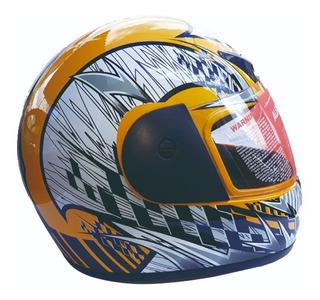 Casco Moto Cerrado Alessia Racer Amarillo