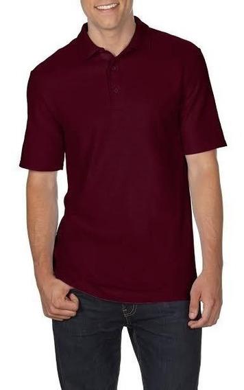 Camiseta Polo Tallas Extra Vino 2xl 3xl 4xl 5xl Original