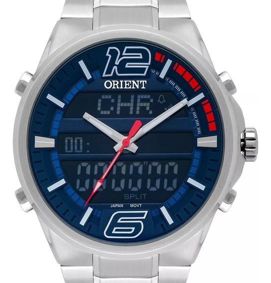 Relógio Orient Masculino Anadigi Prata - Mbssa047 Dvsx