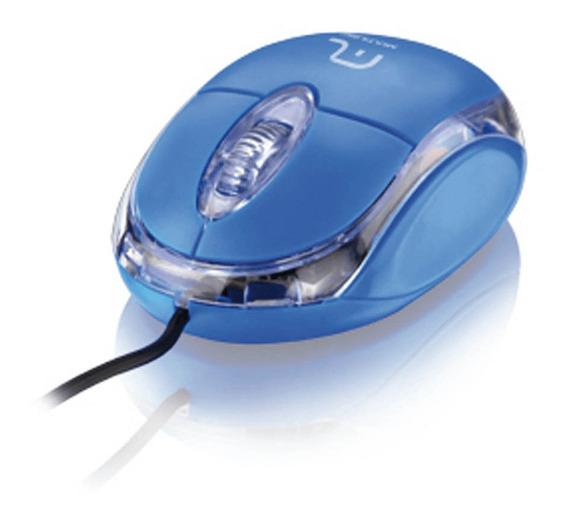Mouse Óptico Classic Usb Azul Multilaser - Mo001