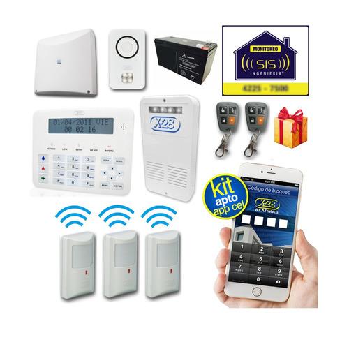 Imagen 1 de 5 de Kit Alarma Domiciliaria X28 Inalambrica Casa Llamador Gsm Comando Via App Celular