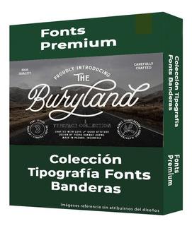 Colección Tipografía Fonts Banderas Premium