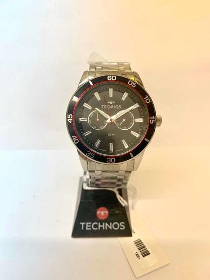 Relógio Technos Masculino Prateado 6p25bo/1p