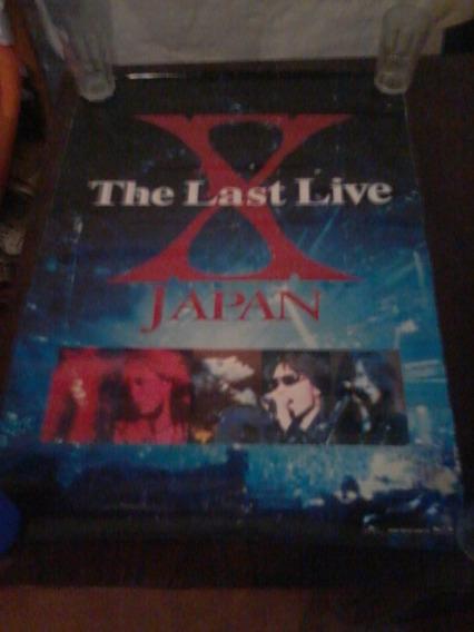 X Japan Poster Esclusivo!! The Last Live!! Rareza Año 1997!!