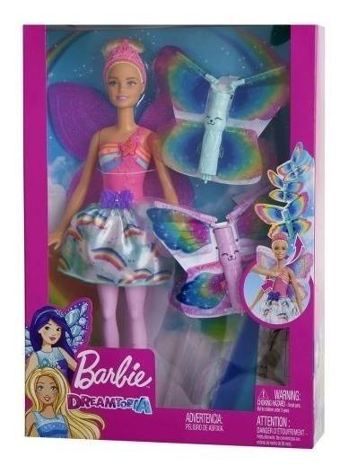 Boneca Barbie Fadas Asas Voadoras Frb08 - Mattel