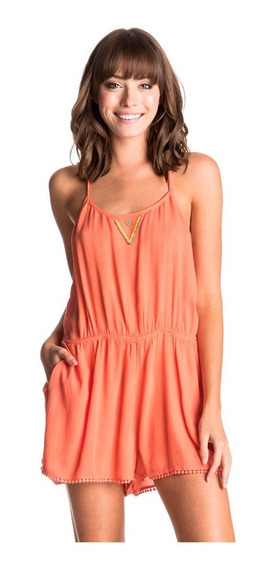 Jumpsuit Short Mujer Casual Detalle Frontal Sin Mangas Roxy