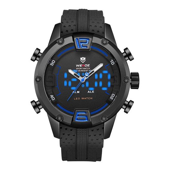 Weide Wh7301 Dual Exibição Relógio Digital Confortável Silic