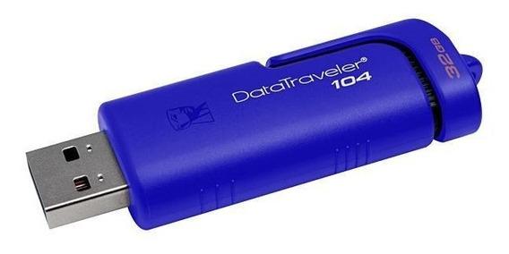 Pendrive 32gb Kingston Datatraveler 104 Kc-u1z32-6sb - Azul/