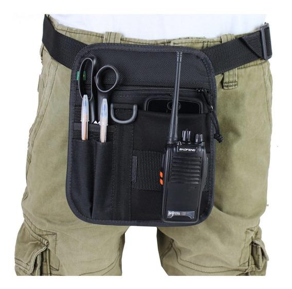 Bolsa De Cintura Promotor Com Porta Celular Caneta E Tesoura