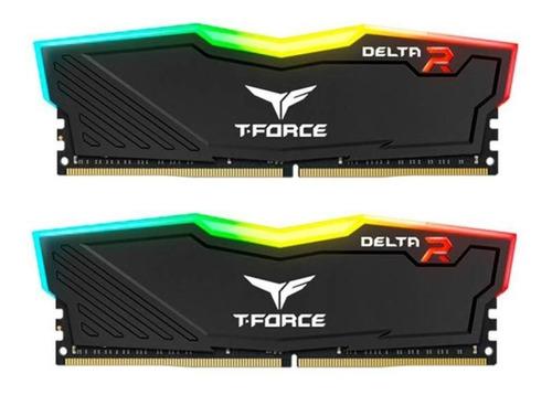 Imagem 1 de 3 de Memoria T-force Delta Rgb 16gb (2x8) Ddr4 3200mhz Preta