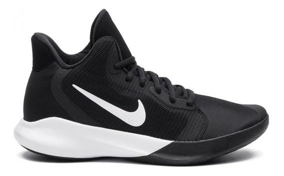 Tenis Nike Precision Iii Negro/blanco Basquet Aq7495 002