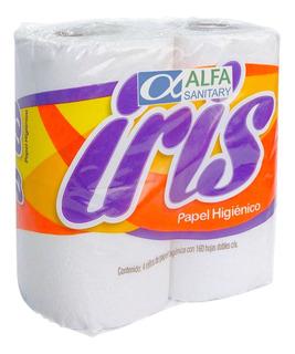 Papel Higienico Iris Paquete De 4 Rollos De 160 Hojas Dobles