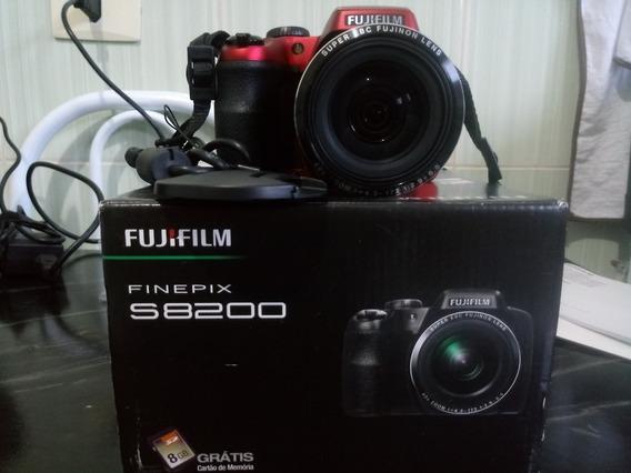 Camera Digital Fujifilm Finepix S8200 Vermelha+ Bolsa Para Transporte