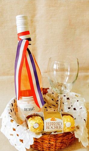 Vino Santa Julia Rosé C/ Copa Ferrero Rocher San Valentín