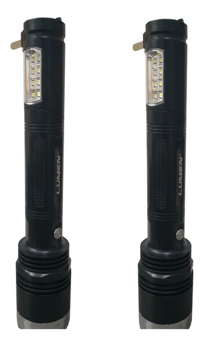Linterna Recargable Led Dual 1w 100 Metros 2 Piezas Caceria