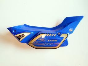 Tampa Lateral Esquerda Azul Da Shineray Xy 50 Q Super Smart