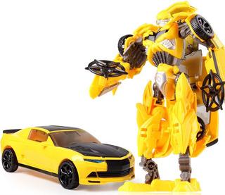 Bumblebee Alloy Novo Camaro Transformers Vira Carro E Robô !