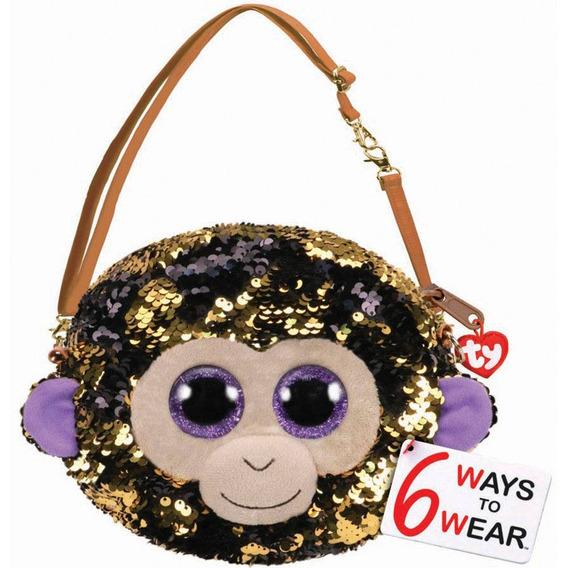 Bolsa Com Alça Ty Fashion Paetê Macaco Coconut - Dtc