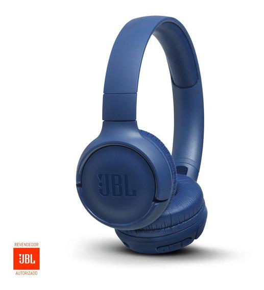 Fone De Ouvido Bluetooth Jbl Brasil Tune 500bt - Azul