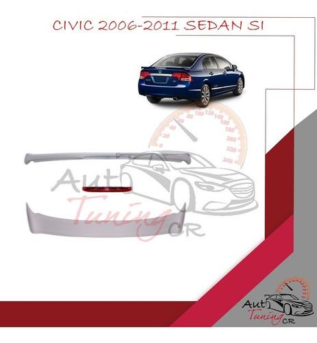 Imagen 1 de 1 de Coleta Spoiler Tapa Baul Honda Civic 2006-2011 Sedan Si