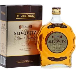 Brandy Cognac Slivovitz Gold 10 Años C/estuche Rep. Checa