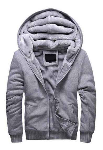 Blusa De Frio Jaqueta Masculina Com Capuz Com Forro De Lã