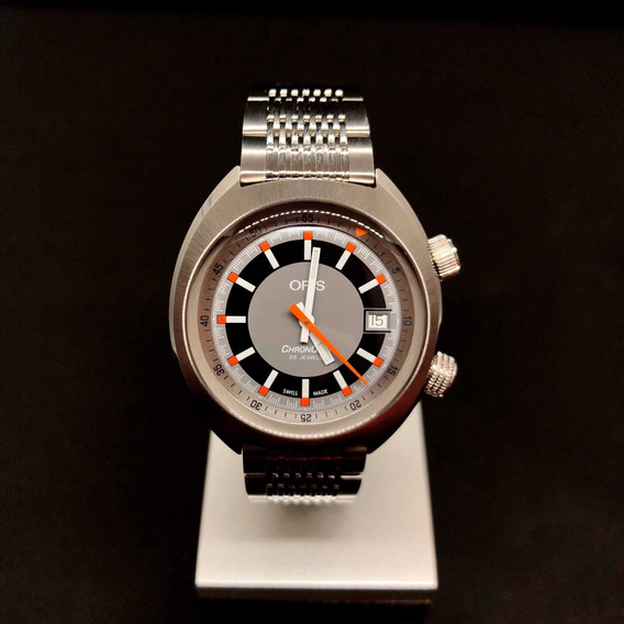 Reloj Oris Chronoris Swiss Made Buzo Diver Retro