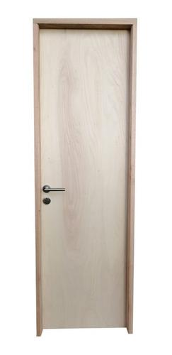 Puerta Interior 70cm,cerradura Y Manija En L Marco Pino 14cm