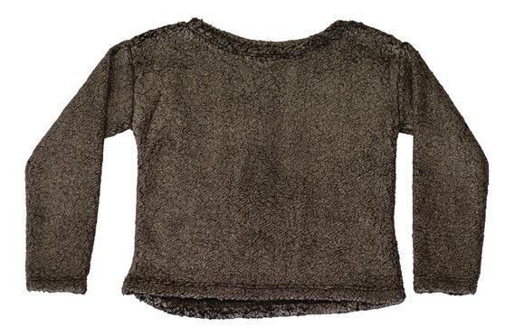 Sweater De Corderito Con Foil Metalizado - Piedrap