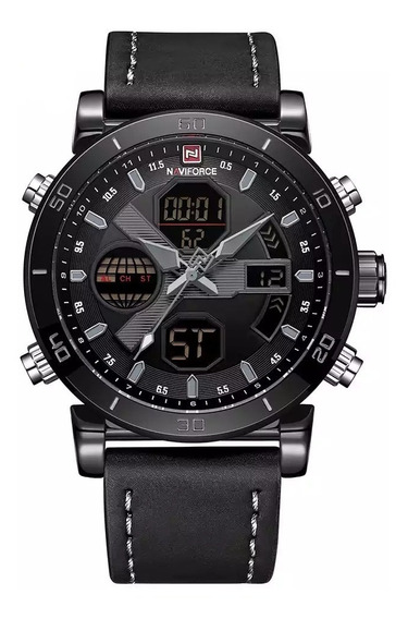 Relógio Masculino Naviforce Esportivo Militar Grey Nf9132