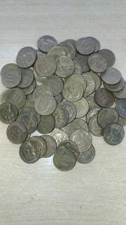 Lote 50 Moedas José Bonifácio De 10 Centavos