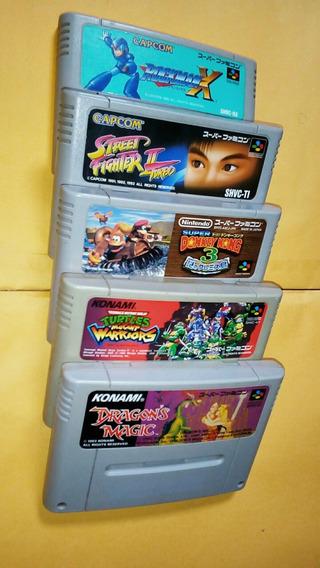 Jogos De Super Famicon - Snes Japonês