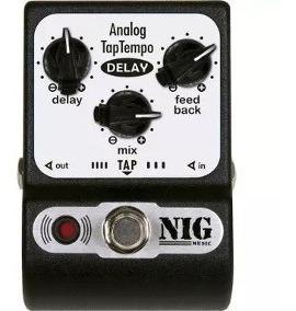 Pedal Para Guitarra Analog Modula Delay Taptempo Nig