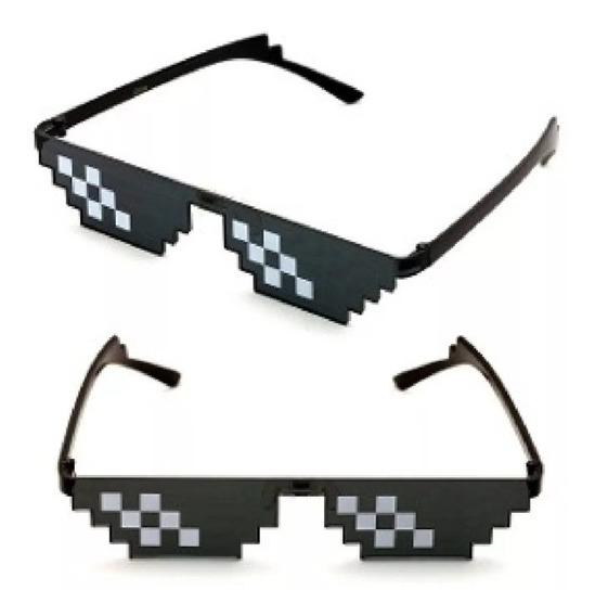Gafas Negras Tipo Meme Pixeladas Thug Life 8 Bit