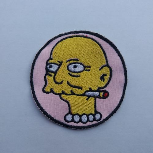 Parche Bordado Simpson Actor De Lisa Pelado