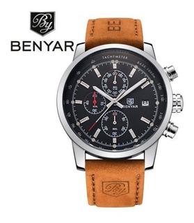 Reloj Benyar Cuero Elegante Moderno