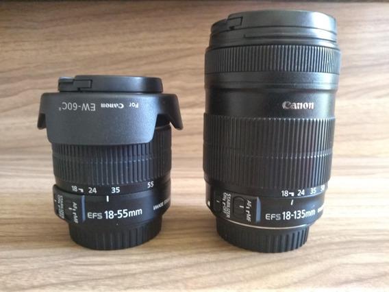 Lentes Canon 18-55 E 18-135 Vendo Separadas