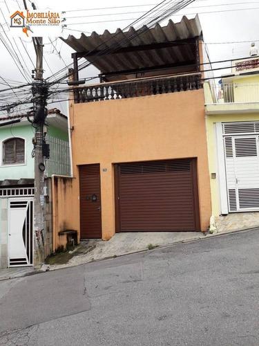 Sobrado Com 4 Dormitórios À Venda, 180 M² Por R$ 420.000,00 - Parque Santo Antônio - Guarulhos/sp - So0469