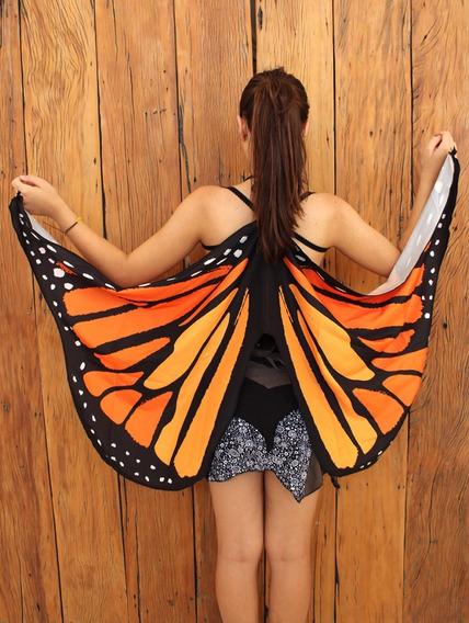Asa De Fada/borboleta - Laranja