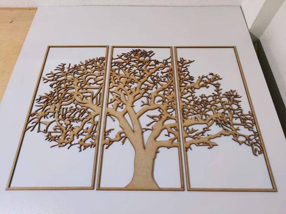 Árbol De La Vida Decorativa En Madera