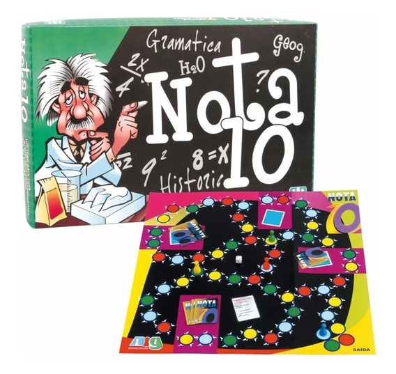 Jogo Nota 10 Perguntas Respostas 7 Temas Diferentes Nig 1100