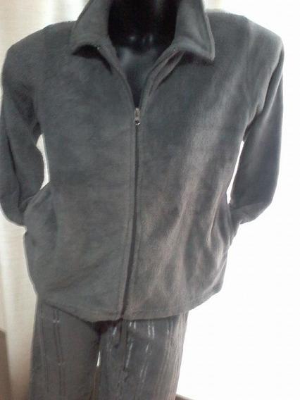 Pijama Conjunto Calça,casaco Aveludado Altoluxo Nova Estação