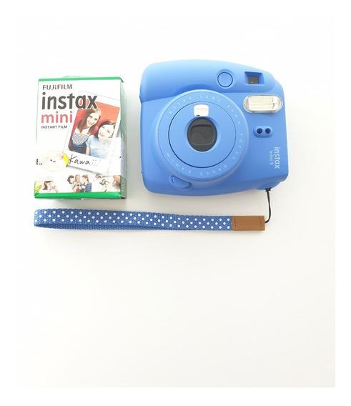 Câmera Intax Mini 9 Fuji Com Filme 20 Poses Mini9
