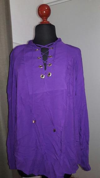 Camisa Morada Dama Michael Kors Mk